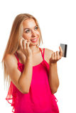 Young woman doing shopping online Stock Photography