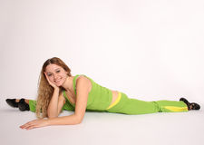 Young woman doing the splits Royalty Free Stock Photography