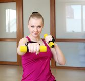 Young woman doing sport Stock Photo