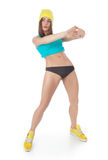 Young woman doing sport exercises Stock Image
