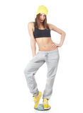 Young woman doing sport exercises Stock Photo