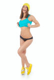 Young woman doing sport exercises Royalty Free Stock Image