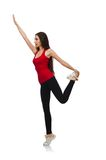 Young woman doing sport exercises Stock Photography