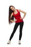Young woman doing sport exercises Royalty Free Stock Photography