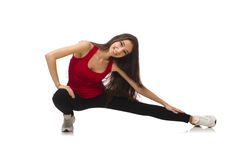 Young woman doing sport exercises Royalty Free Stock Photos