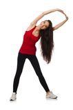 Young woman doing sport exercises Royalty Free Stock Images