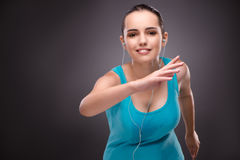 The young woman doing sports in sport concept Royalty Free Stock Photos