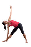 Young woman doing stretching of her back Stock Images
