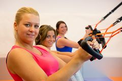 Free Young Woman Doing Suspension Training Stock Photo - 34258560