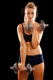 Young woman doing workout Royalty Free Stock Images