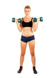 Young woman doing workout Royalty Free Stock Image