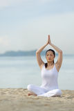 Young woman doing yoga. Stock Image