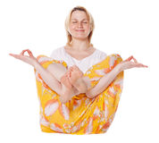 Young Woman Doing Yoga Exercise Stock Image