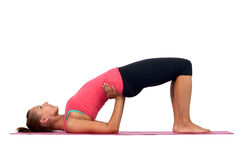 Young woman doing yoga Stock Image