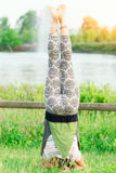 Young woman doing yoga in group Stock Images