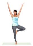 Young woman doing yoga. Royalty Free Stock Image