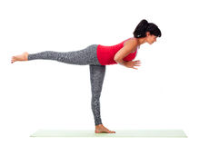 Young woman doing yoga. Royalty Free Stock Photos