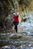 Young woman doing yoga outdoor Royalty Free Stock Photos