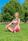 Young woman doing yoga. Royalty Free Stock Images