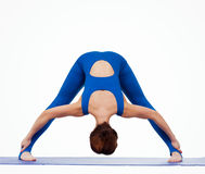Young woman doing yoga Royalty Free Stock Photos