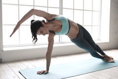 Young Woman Doing Yoga Pose Exercise Healthy Lifestyle Stock Photo