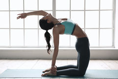 Young Woman Doing Yoga Pose Exercise Healthy Lifestyle Stock Image