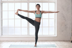 Young Woman Doing Yoga Pose Exercise Healthy Lifestyle Royalty Free Stock Photos