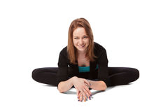 Young woman doing yoga Stock Photography