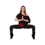 Young woman doing yoga Stock Images