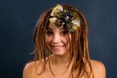 Young woman with dreadlocks Royalty Free Stock Images
