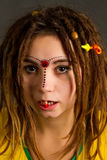 Young woman with dreadlocks Stock Photography