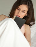 Young woman with dreambook stock image