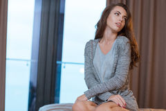 Young woman dreaming and relaxing Stock Photos
