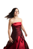 Young woman dress spinning Royalty Free Stock Photography