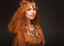 Young woman dressed as Amazons. Beautiful young woman dressed as Amazons stock image