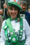 A young woman dressed as Irish Stock Images