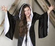 Young woman dressed as a witch Stock Photos