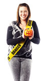Young woman dressed in halloween costume Stock Photography
