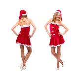 Young woman dressed like Santa Claus Royalty Free Stock Photos