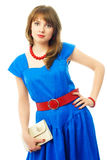 Young woman dressed in retro clothes Royalty Free Stock Images