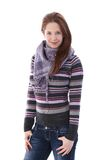 Young Woman Dressed Warm Smiling Royalty Free Stock Image