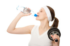 Young woman drinking Stock Photos