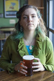 Young Woman Drinking Beer Royalty Free Stock Photos