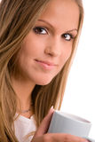 Young woman drinking coffe Stock Photography