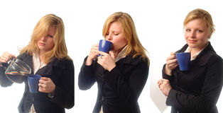 Young Woman Drinking Coffe At The Morning Royalty Free Stock Photo