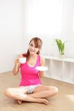 Young Woman drinking coffee Royalty Free Stock Images
