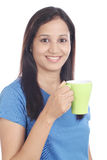 Young woman drinking coffee. Stock Photography