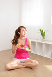 Young Woman drinking hot tea Royalty Free Stock Photos