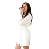 Young woman drinking morning coffee Royalty Free Stock Photography