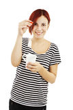Young woman drinking tea Royalty Free Stock Photo